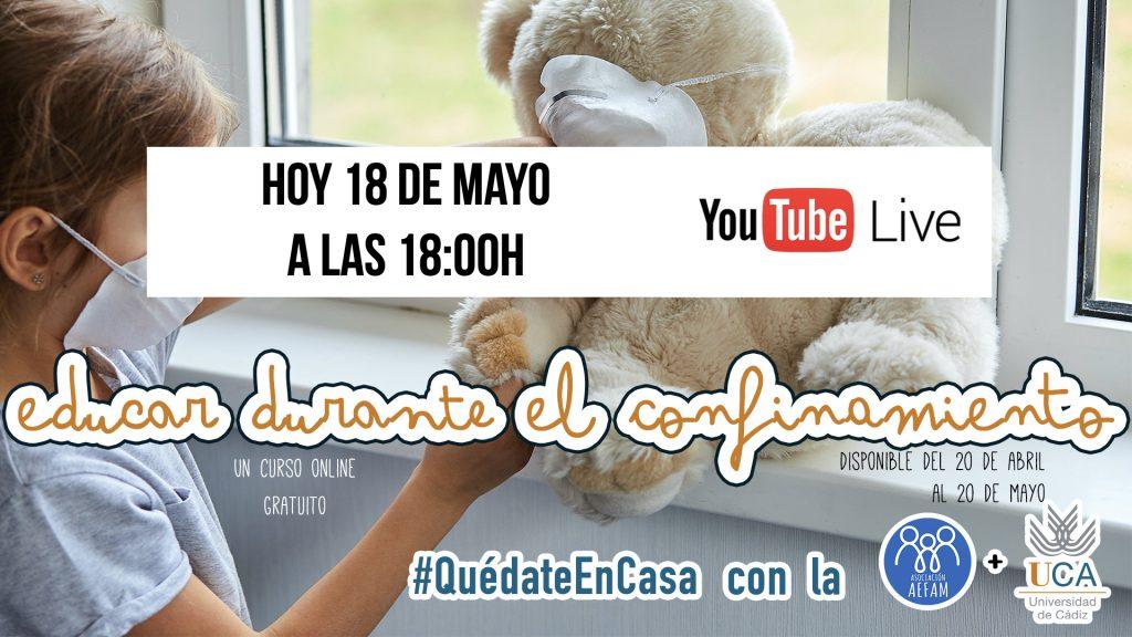 Hoy conectamos en directo a las 18:00h (hora española)